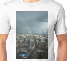 Rainbow Over East Vancouver Unisex T-Shirt
