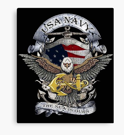 USA NAVY THE SEA IS OURS Canvas Print
