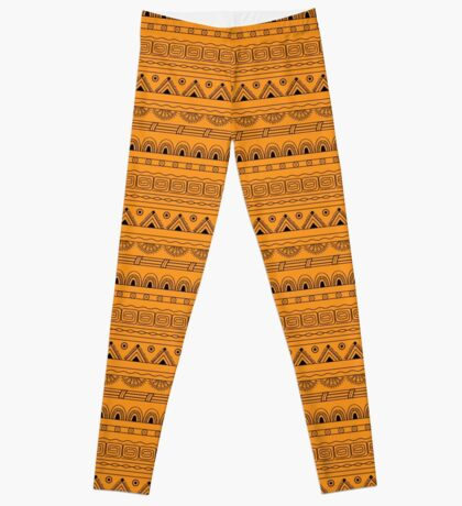 yellow aztec pattern Leggings