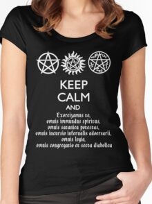 SUPERNATURAL - SPEAKING LATIN Women's Fitted Scoop T-Shirt