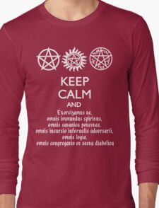 SUPERNATURAL - SPEAKING LATIN Long Sleeve T-Shirt