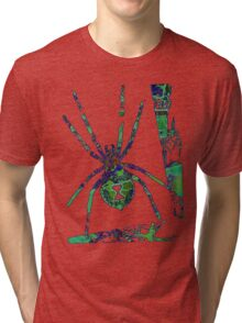 Arachnophilia-Green Tri-blend T-Shirt