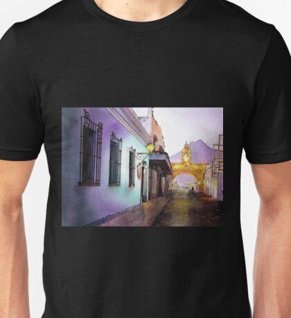 Antigua Guatemala Watercolor Painting Unisex T-Shirt