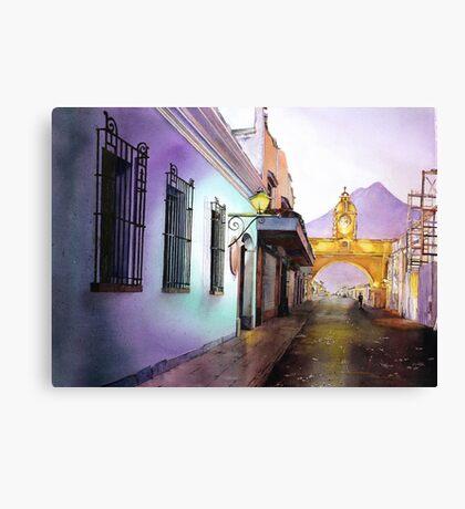 Antigua Guatemala Watercolor Painting Canvas Print