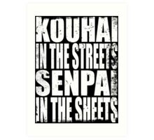 Kouhai in the Streets... (WHITE) Art Print