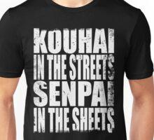 Kouhai in the Streets... (WHITE) Unisex T-Shirt