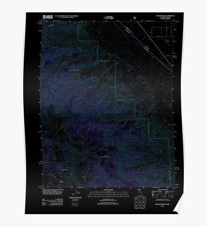 USGS TOPO Map California CA Station Peak 20120406 TM geo Inverted Poster