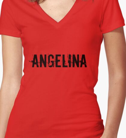 Angelina Women's Fitted V-Neck T-Shirt