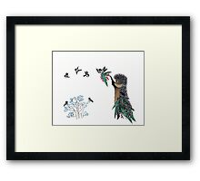 Nursery art - Mistletoe for winter holidays Framed Print