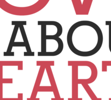 Love Hearts, Not Parts Sticker