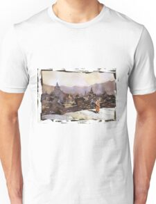 Monk at Bagan ruins- Myanmar (Burma) Unisex T-Shirt