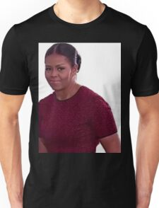 Michelle Obama's Face At Trump Inauguration Meme Unisex T-Shirt