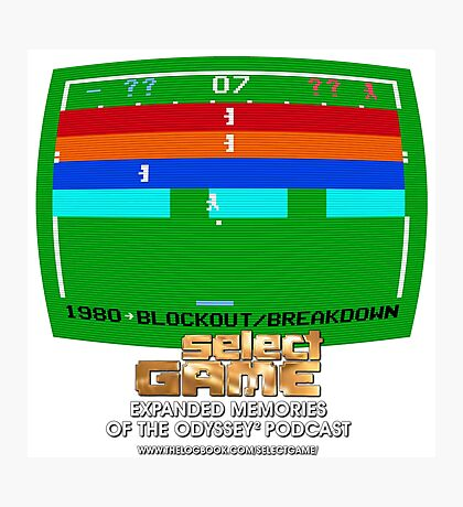 Select Game Podcast: Blockout! / Breakdown! Photographic Print