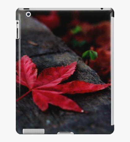 Red Leaf Fallen iPad Case/Skin