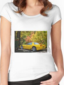 2006 Corvette Z06 '50th Anniversary' A Women's Fitted Scoop T-Shirt