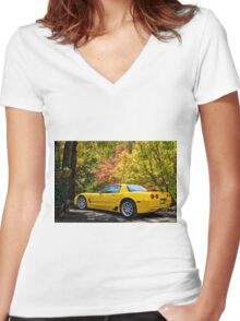 2006 Corvette Z06 '50th Anniversary' A Women's Fitted V-Neck T-Shirt