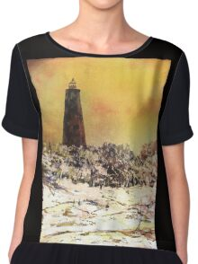 Old Baldy Lighthouse- North Carolina Chiffon Top