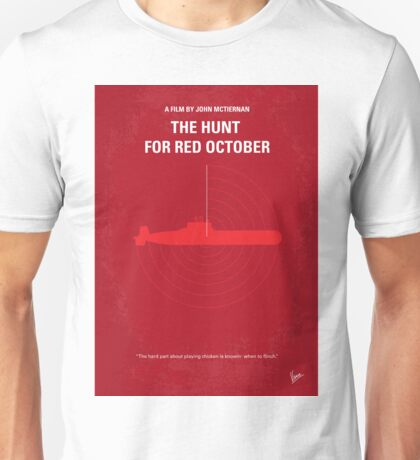 No198 My The Hunt for Red October minimal movie poster Unisex T-Shirt