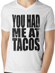 You Had Me At Tacos (BLACK) Mens V-Neck T-Shirt