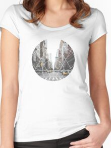 Geometric Shape - Downtown Women's Fitted Scoop T-Shirt