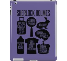 Sherlock Quotes iPad Case/Skin