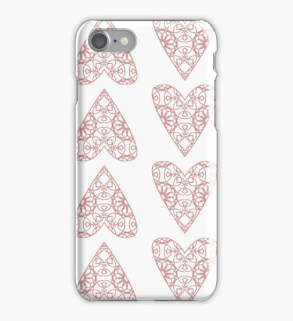 Heart illustration with pattern inside iPhone Case/Skin