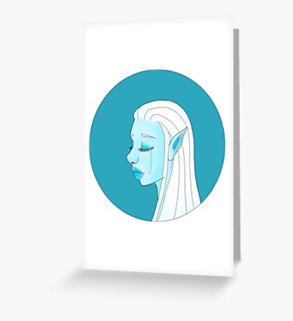 Blue elf Greeting Card