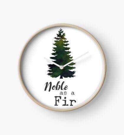 Noble as a Fir by Woodland Doodles Clock
