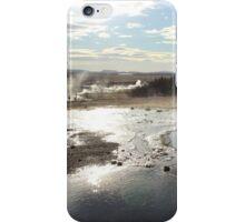 Geyser in Iceland iPhone Case/Skin