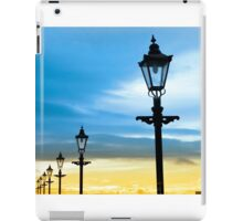 lighthouse and row of vintage lamps iPad Case/Skin