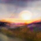 Sunset Swirl Landscape Abstract by Alma Lee
