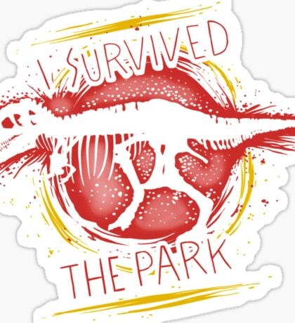 I survived the park Sticker