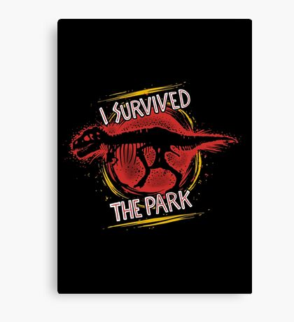 I survived the park Canvas Print