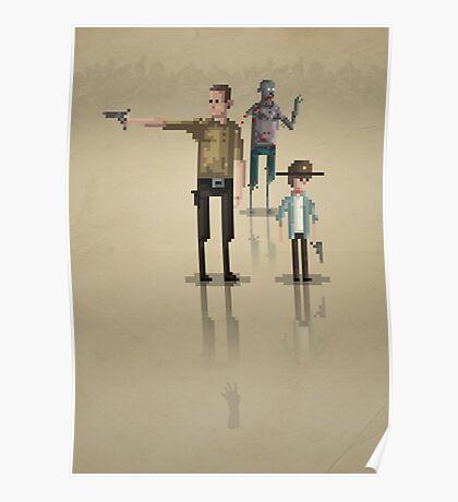 8-Bit TV Walking Dead Poster