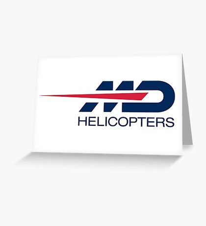 md helicopter Greeting Card