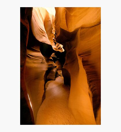 Yellow Golden Sandstone Shapes Photographic Print