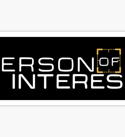 PERSON OF INTEREST (LOGO) Sticker