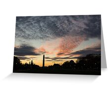 Mother Nature Painted the Sky Over Washington, DC Spectacular Greeting Card