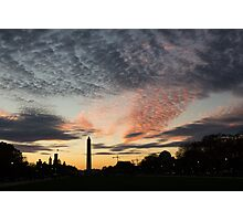 Mother Nature Painted the Sky Over Washington, DC Spectacular Photographic Print