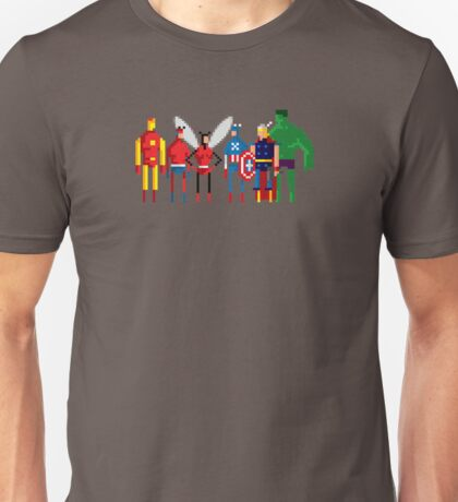 8-bit Marvelous Avenging Heroes Unisex T-Shirt