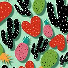 Cactus Love and Pineapples by susanapaz