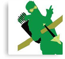 Green Arrow Canvas Print