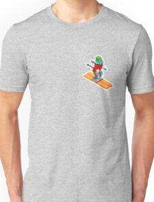 Cartoon Ski Man Winter Sports Ski Unisex T-Shirt