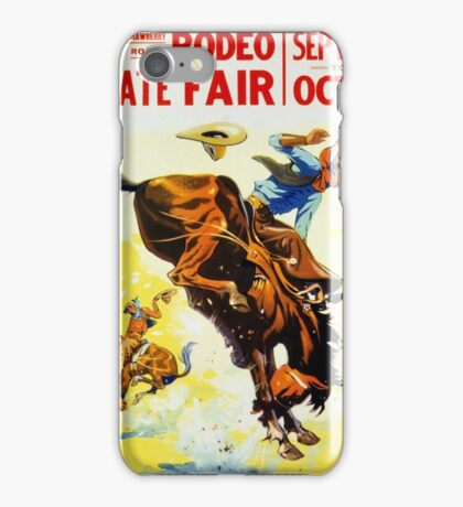 Vintage 1930s Rodeo Poster Restored iPhone Case/Skin