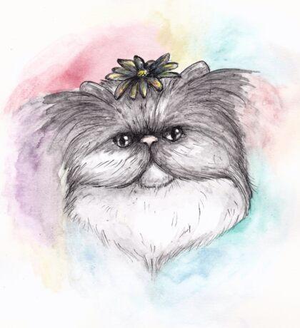 Persian Flower Cat Sticker