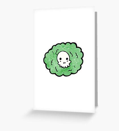 cartoon death gas cloud Greeting Card