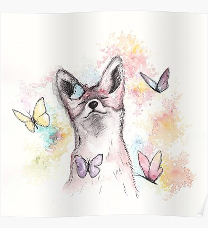 Butterfly Fox Poster