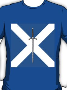 Claymore on Saltire T-Shirt
