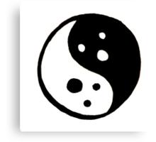 Yin Yang Ghosts Canvas Print