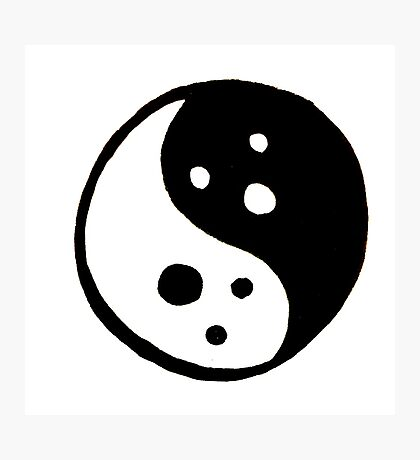 Yin Yang Ghosts Photographic Print